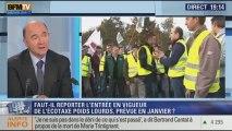 """Invité de Ruth Elkrief sur BFMTV mardi, Pierre Moscovici, ministre de l'Économie et des Finances, publie """"Combats: Pour que la France s'en sorte"""" aux éditions Flammarion. Il  est revenu sur le vote, ce mardi, à l'Assemblée sur les impôts prévus dans le bu"""