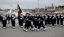 Défilé de fusiliers marins à Concarneau