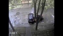 The Worst driver EVER! Crash on an empty parking. WTF?