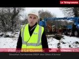 Lignes EDF à terre. Gros chantier dans les Côtes-d'Armor