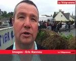 Guingamp. des agriculteurs bloquent le centre Leclerc