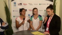 Interview Seguel & Sasnovich Internationaux Féminins de la Vienne 2013