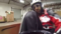 'Ken Box' Racing Crazy Cart In Warehouse Gymhana Parody of Ken BLOCK