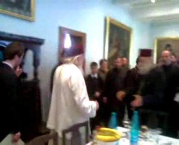 Ultimul Sf. Dimitrie cu Patriarhul Teoctist - La Palatul Patriarhal, 2006, de hramul Bucurestilor