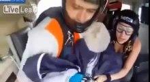 Paracaidista sobrevivió a un gran susto en las alturas