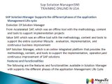 Sap Solution Manager(SM)TRAINING ONLINE IN USA@magnifictraining.com