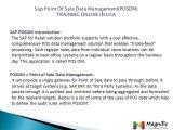 Sap Point Of Sale Data Management(POSDM) TRAINING ONLINE IN USA@magnifictraining.com