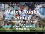 Live Rugby Stream Western Province vs Natal Sharks