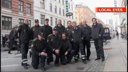 Lars Mikkelsen   Filming a scene for The Team   Video 2