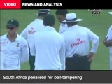 VIDEO  NEWS AND ANALYSIS South Africa penalised for ball-tampering 'Never rule India out' 'Bangladesh lack an ODI No. 3' - Isam More Video & Audio »  Pakistan v South Africa, 2nd Test, Dubai, 3rd day  SA penalised for ball tampering