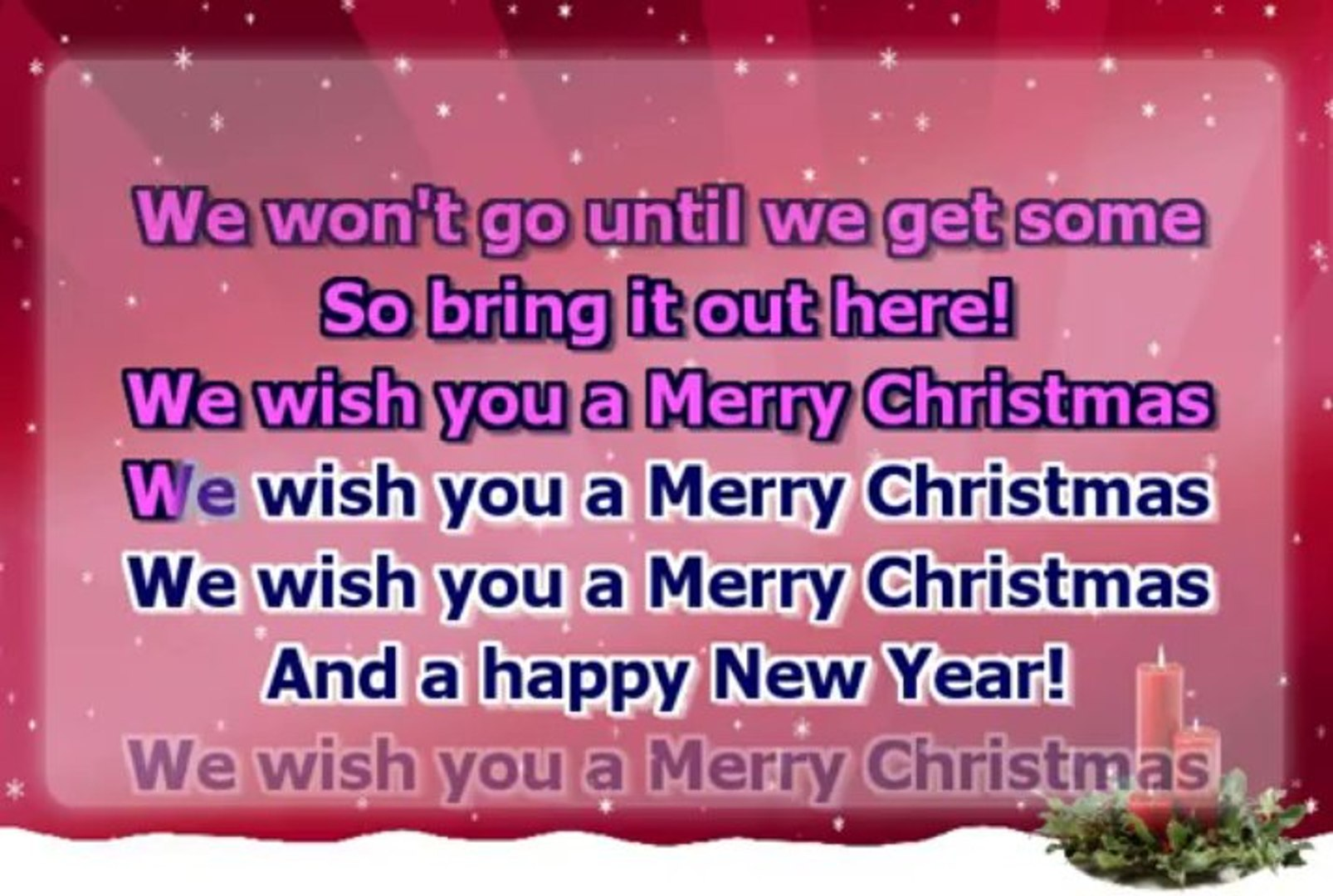 Christmas Carol We Wish You A Merry Christmas Fast Melody Video Dailymotion