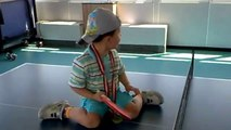 Youngest Ping Pong Player-Table Tennis Playing Child