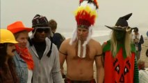 Surfers compete in Halloween costumes