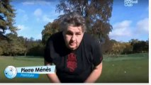 Pierre Ménès fait ses 8 jongles dans le CFC pour répondre
