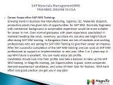 SAP Materials Management(MM)  TRAINING ONLINE IN USA@magnifictraining.com