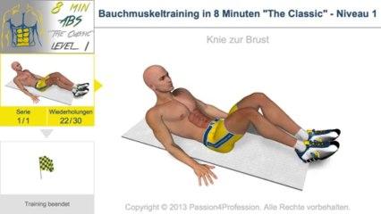 Bauchmuskeltraining in 8 Minuten
