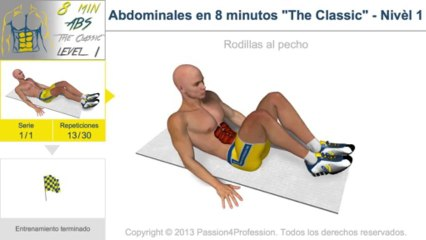 Entrenamiento para abdominales en 8 minutos
