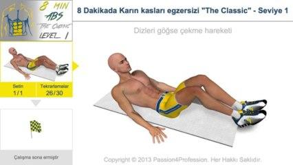 8 Dakikada Karın kasları egzersizi