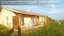Auch 2M Immobilier Solvimo  Maison 197900€ 128m² PESSAN %ROOMS%