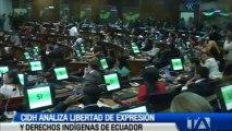 CIDH analiza libertad de expresión y derechos indígenas de Ecuador
