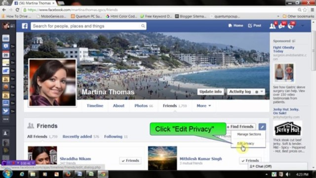 Facebook: How to Hide Friends list from others
