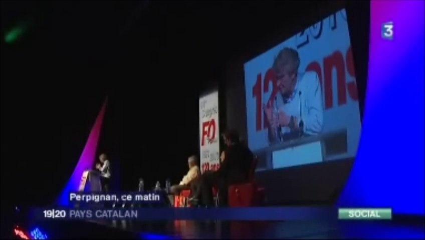 Reportage JT France 3 - Congrès FEC FO à Perpignan du 21 au 25 octobre 2013