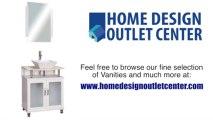 "Home Design Outlet Center BW-700-30 30"" Single Modern Bathroom Vanity Set   Cream Marble"