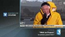 Zapping TV : un déluge s'abat en direct sur le plateau de France 3