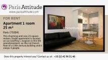 Studio Apartment for rent - Centre George Pompidou, Paris - Ref. 4368