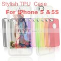 hytparts.com-Stylish Contrast Color Design TPU Protective Case for iPhone 5 5S