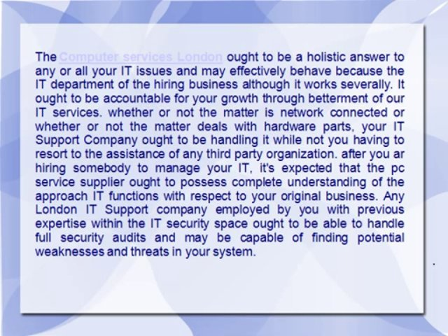 What IT support will do for businesses?