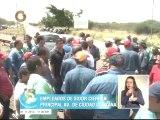 Trabajadores de las empresas básicas cierran avenida Guayana para exigir pagos