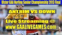 Ulster GAA Hurling Senior Championship 2013 Final Antrim vs Down Live Streaming