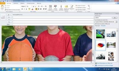 Outlook - Ajouter des illustrations dans un message