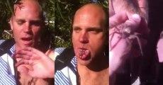 Une araignée vivante dans la bouche
