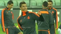 Real Madrid trains on the Juventus Stadium Cristiano Ronaldo