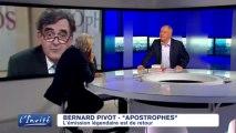 """Bernard PIVOT : """"J'ai vécu des moments incroyables à Apostrophes"""""""