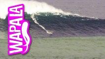 Justine Dupont a surfé une vague géante de 45 pieds à Belharra au Pays Basque