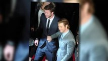 Chris Hemsworth Jokingly Pushes Brother Liam at Thor Premiere