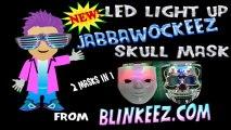 JABBAWOCKEEZ Light Up Flashing Dual LED HALLOWEEN SKULL Mask