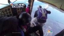 Deux avions de parachutistes rentrent en collision