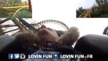 Lilou de Lovin' Fun teste 'Goudurix' au Parc Asterix