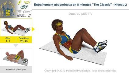 Entraînement abdominaux en 8 minutes - Niveau 2