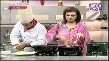 Zauq Zindagi with Sara Riaz and Dr. Khurram Musheer, American Chop Suey, Dry Beef Chilli, Garlic Prawns & Date Bars, 5-11-13, part 1