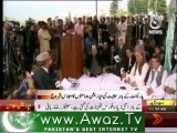Opposition parties hold protest session outside Parliament House