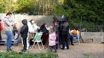 préparation et féte d'halloween  au jardin d'orgeval a reims