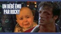 Un bébé ému aux larmes par Rocky
