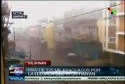Tifón más violento del año azota Filipinas