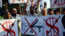 Pakistanis protest against US drones attacks