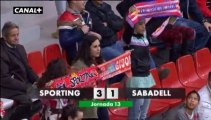 Liga Adelante Sporting 3  Sabadell 1